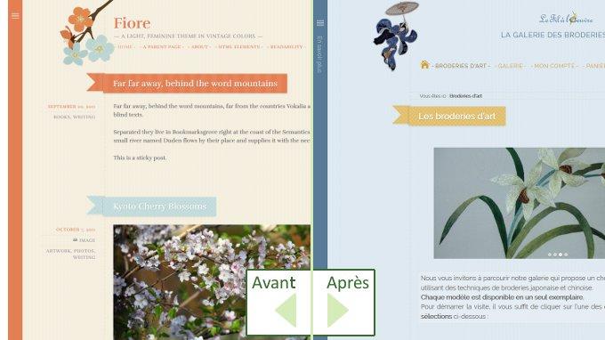 """Personnalisation du thème """"Fiore"""" proposé par Caroline Moore"""