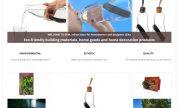 Page d'accueil de la boutique en ligne Green Earth Materials
