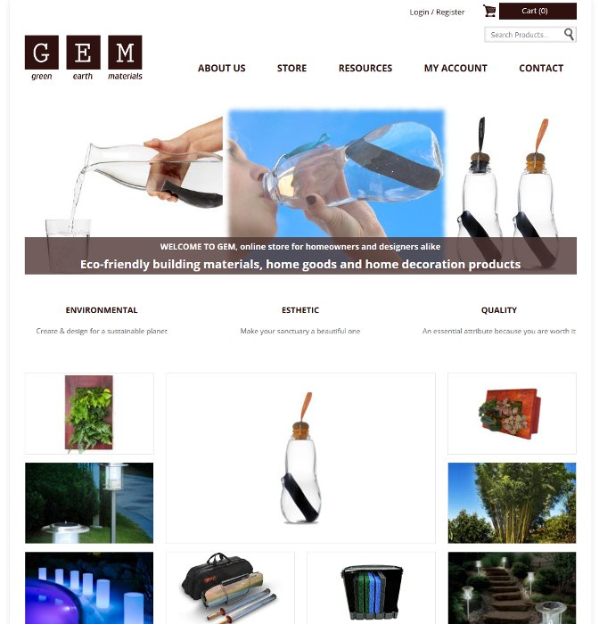 Boutique en ligne Green Earth Materials