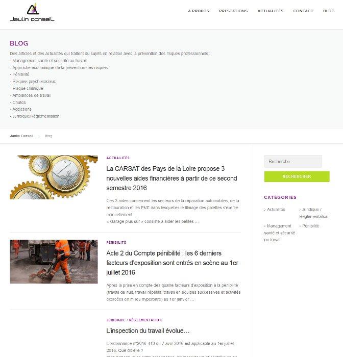Page blog du site Jaulin Conseil