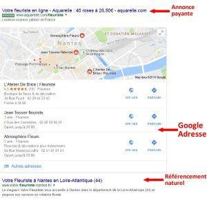 Les différents formats de résultats dans une page de résultats de Google