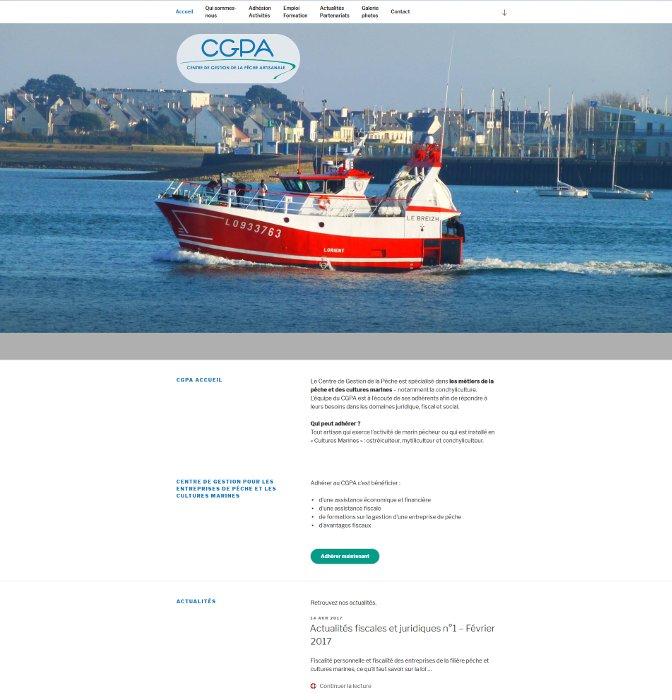 Site vitrine pour le Centre de Gestion de la Pêche Artisanale