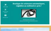 Page d'accueil de la boutique en ligne Le kiosque à ceintures